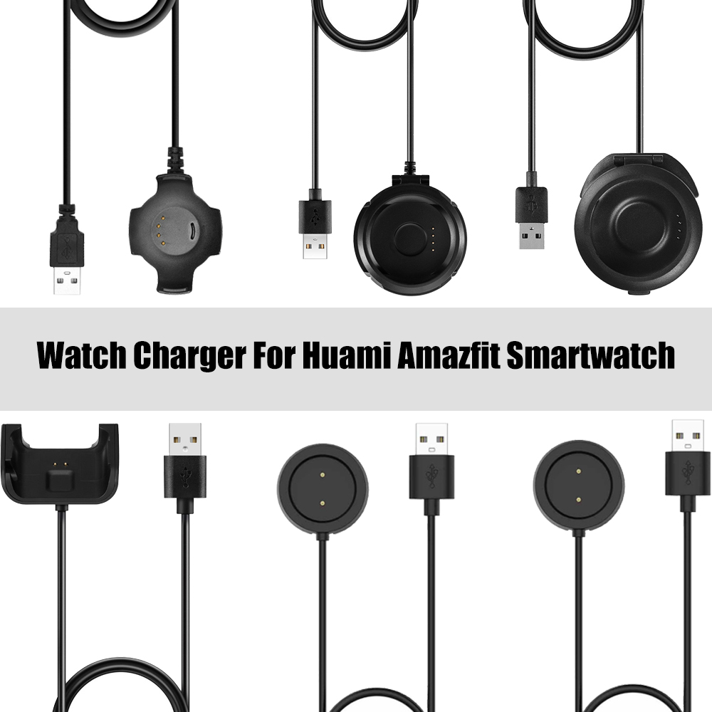 Quick Watch Charger For Xiaomi <font><b>Huami</b></font> <font><b>Amazfit</b></font> GTR 47mm GTS Watch <font><b>Charging</b></font> Dock For <font><b>Amazfit</b></font> Bip Youth Pace Stratos Charge Dock image