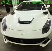 Fit for Ferrari F12 carbon fiber machine cover plate air outlet decoration F12 hood carbon fiber vent