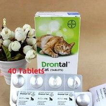 Bayer drontal plus para gatos 24 comprimidos/40 comprimidos greatdane entrega rápida profissional suprimentos para animais de estimação para a saúde do animal de estimação