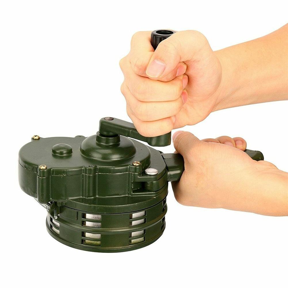 Hand Crank Siren Horn 110dB Manual Operated Metal Alarm Air Raid Emergency Safety EIG88