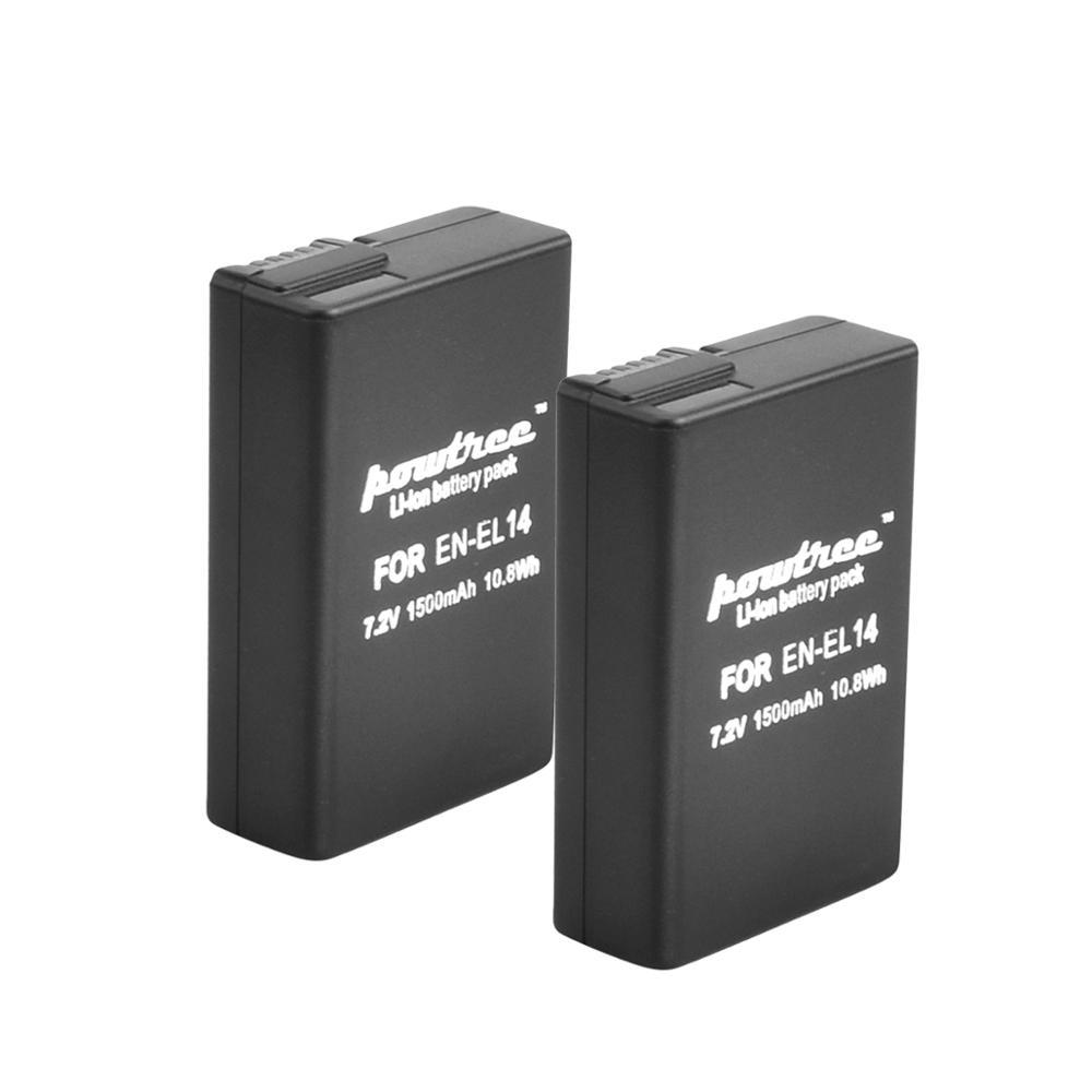 7,2 V 1500 мА/ч, литий-ионный аккумулятор EN-EL14 Перезаряжаемые Батарея для Nikon P7200 P7700 P7100 D5500 D5300 D5200 D3200 D3300 D5100 D3100 L50