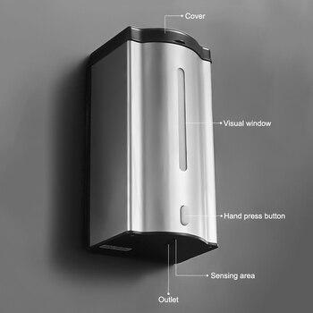 600ML Touch-Free Hand Sanitizer Dispenser Liquid Soap Hygiene Sprayer Automatic Sensor Induction Disinfection Machine