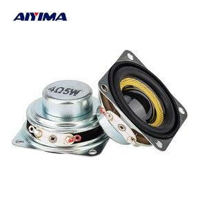 Aiyima 1.5 Polegada 4/8ohm 5w mini alto-falante portátil de áudio 40mm gama completa ultra-fino neodímio altifalante para diy teatro em casa 2 peças