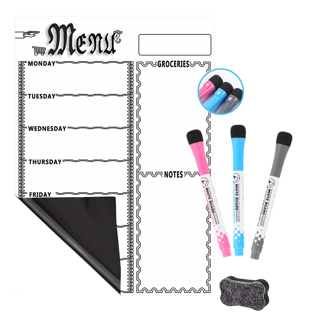 Dry Erase Board Weekly Calendar Magnetic White Board For Kitchen Refrigerator Whiteboard - Smart Planners