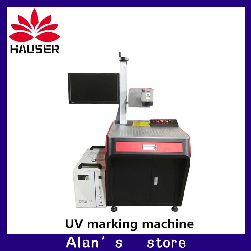 Free shipping, 3w 5w UV laser engraver machine laser marking machine glass metal plastic marking machine