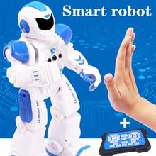 RC умный датчик жестов танцующий робот программируемый inteligente Электрический Поющий пульт дистанционного управления образовательный гуманоид Робототехника детские игрушки