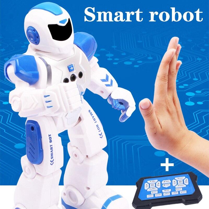 Robot de baile con Sensor de gesto inteligente RC, Robot integrado, Control remoto, Robot humano educativo, juguetes para niños