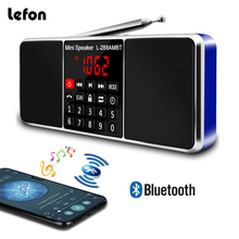 купить Lefon Portable AM FM Radio Stereo Receiver Bluetooth Wireless Speaker Support TF SD Card USB Disk AUX MP3 LED Display Handsfree в интернет-магазине