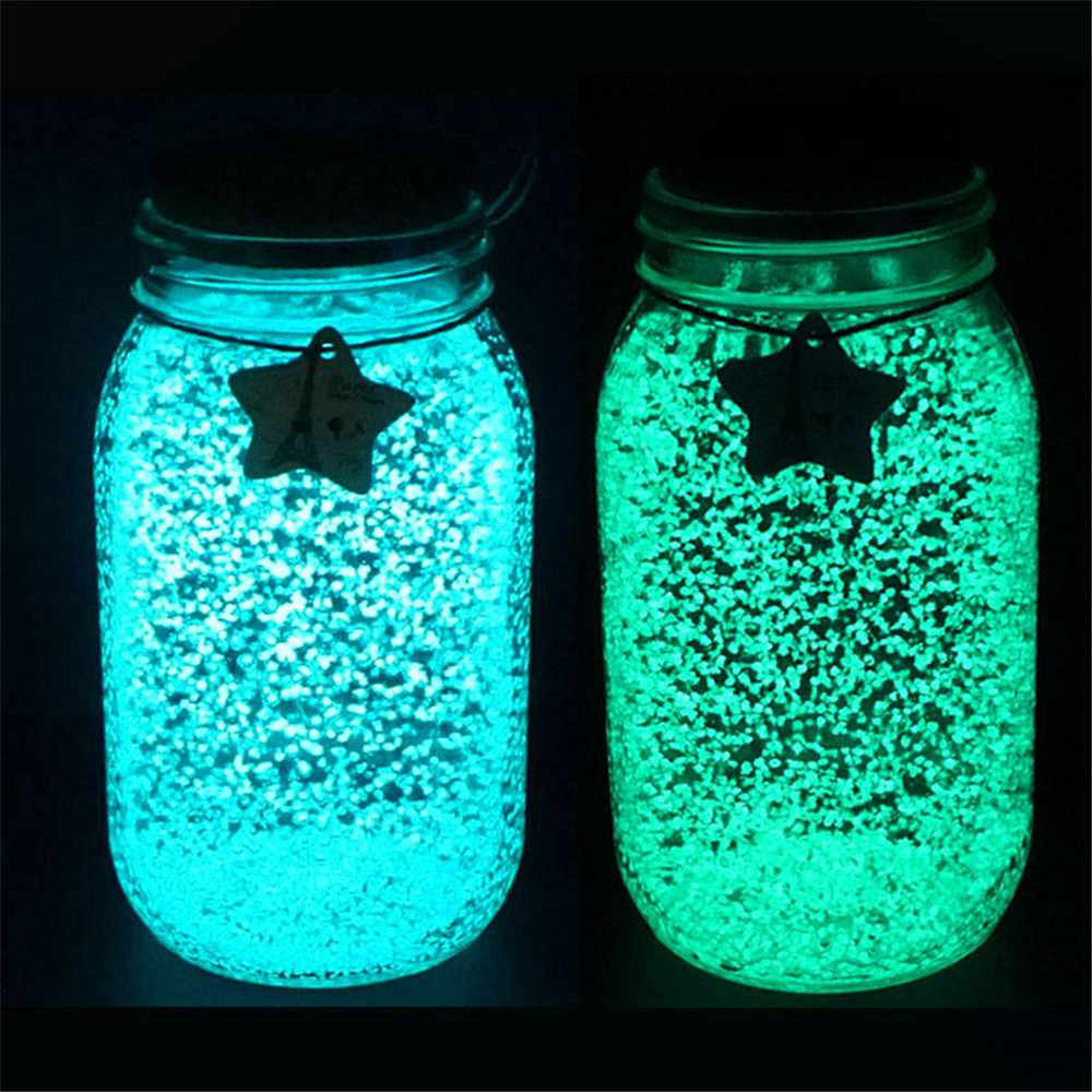 1PC Tuin Glow Grind Lichtgevende Noctilucent Zand Aquarium Aquarium Fluorescerende Deeltjes Party Decoratie DIY Glow in The Dark