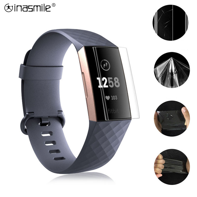 1/3/5 PCS HD For Fitbit Charge 3 2 Surge Ionic Blaze Versa Inspire HR Explosion-proof TPU HD Full Cover Screen Protector Film