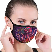 Octopus With Boombox And Surfing Mask Boys Girls Reusable Wearing Mouth Muffle(China)