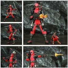 "One:12 Deadpool 6 ""액션 피규어 옷 옷감 죽은 풀 전설 개 1/12 1:12 만화 영화 장난감 인형 모델"