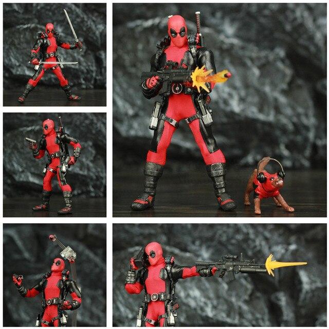 """One:12 Deadpool 6 """"Action Figure vestiti abito di stoffa Dead Pool Legends Dog 1/12 1:12 Comic Movie Toys modello di bambola"""