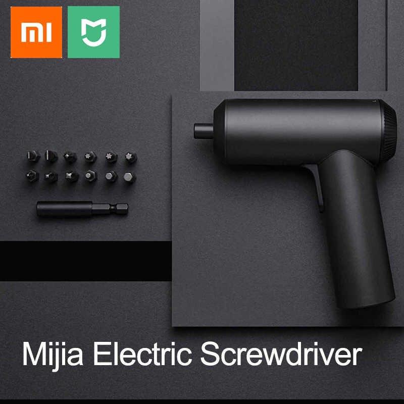 Image 3 - Xiaomi Mijia Беспроводная перезаряжаемая отвертка 3,6 v 2000mah Li Ion 5n. m электрическая отвертка с 12 шт S2 Биты для отвертки для дома-in Отвертка from Инструменты