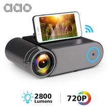 AAO YG420 Mini LED 720P Projector Native 1280x720 Portable Wireless WiFi Multi Screen Video Beamer YG421 3D VGA HDMI Proyector(China)