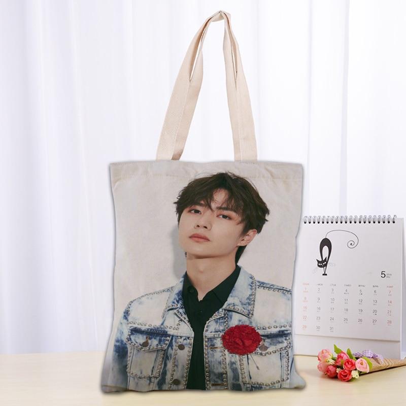 Hot Chen Qingling Lan Wangji Wang Yibo Printed Canvas Tote Bag Fashion Durable Cotton Linen Handbag Bags Custom Your Image