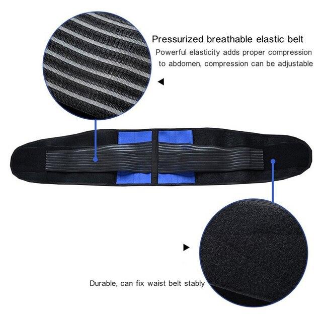 Tcare-vendaje ajustable de neopreno con dos tiras en la zona Lumbar, banda para aliviar el dolor, de talla grande S-6XL, Unisex, correa de espalda Lumbar 3