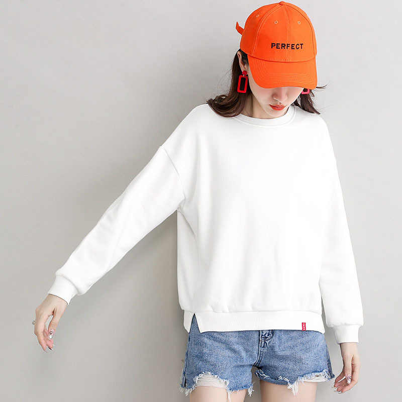 2020 neue Frauen Casual Langarm Pullover Sweatshirt Winter Warme Hoodies Sweatshirts
