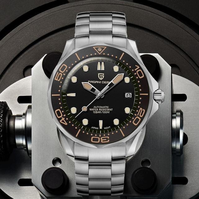 2021 New PAGANI DESIGN 007 Men's Mechanical Watches Brand Luxury Automatic Watch Men Waterproof Wristwatch Japan NH35 Clock man 1