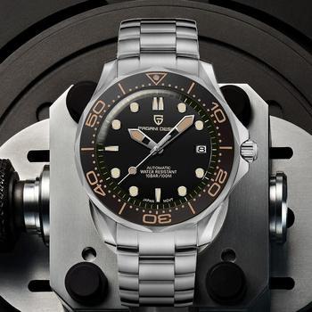 2021 nowy PAGANI projekt męska mechaniczne zegarki na rękę luksusowy zegarek automatyczny dla mężczyzn świecenia nurkowanie zegarek ze stali japonia NH35 zegar tanie i dobre opinie PAGANI DESIGN 10Bar CN (pochodzenie) Składane bezpieczne zapięcie Luxury ru Mechaniczna nakręcana wskazówka Samoczynny naciąg