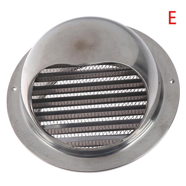 Grille da/ération murale conduit de ventilation extracteur sortie persiennes h/émisph/ère 304 couvercle d/évent en acier inoxydable sortie de hotte