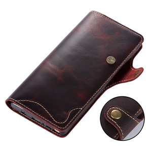 Image 4 - Genuine Leather For Samsung S20 Ultra Note 20 10 Plus 9 Case Wallet Flip Case for Samsung Galaxy S8 S9 S10 Plus Note 8 9 10 Case
