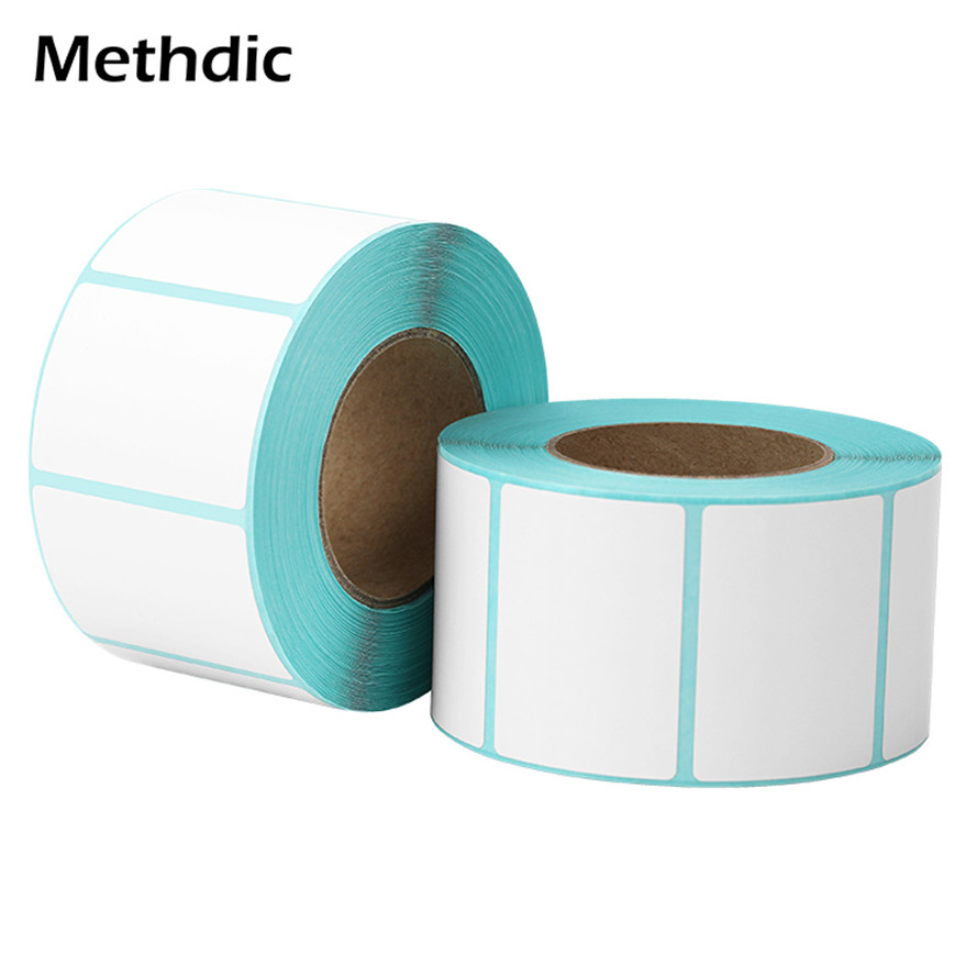 Methdic  40x30mm 2 Rolls Waterproof Printing Self Adhesive Blank Labels