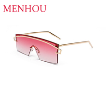 clear shades Square Rimless Sunglasses Women metal frame Flat Top