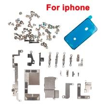 אחד סט מלא בתוך קטן מתכת מחזיק סוגר מגן צלחת סט ערכת תיקון חלקי + מלא ברגים + עמיד למים עבור iPhone 11 Pro מקסימום