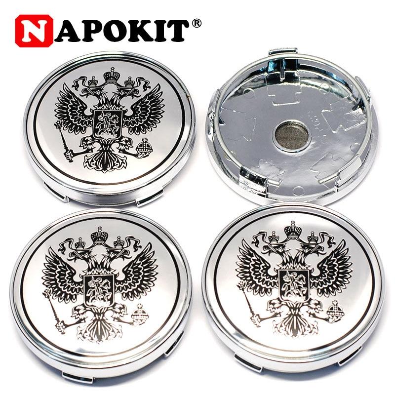 4Pcs 60mm Russian National Shield Car Wheel Center Caps Hub Cap For LADA TOYOTA NISSAN Hyundai KIA Chevrolet Mitsubishi Ford BMW