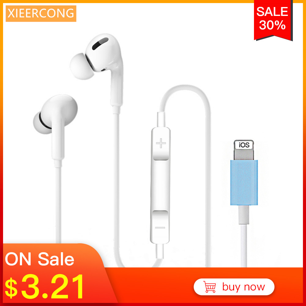 In Ear Stereo Earphone For Apple Iphone 7 Headset With Microphone Wired Bluetooth For Iphone 8 7 Plus X Xr Xs Max 10 Earphone Bluetooth Earphones Headphones Aliexpress