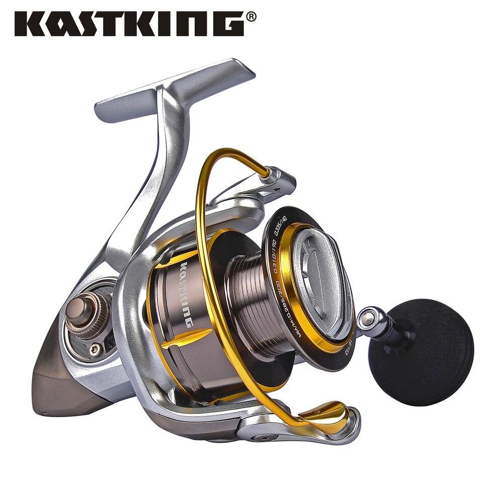KastKing-carrete giratorio de agua salada Kodiak, carrete de aluminio más grande, carrete de pesca de arrastre de 18KG con 11 rodamientos de bolas, relación de engranaje 5,2: 1