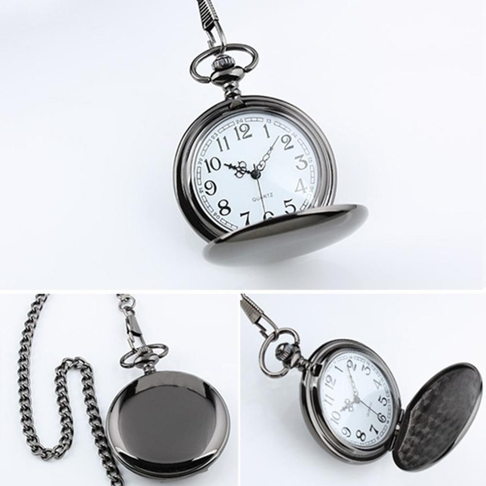 Mens Watches Top Brand Luxury Retro Vintage Men Steampunk Clock Smooth Pendant Chain Classic Watch Men Montre Homme