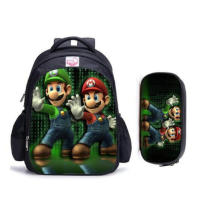 16 Inch Mario Sonic Boom Hedgehogs Children School Bags Orthopedic Backpack Kids School Boys Mochila Infantil Catoon Bags|School Bags| |  -