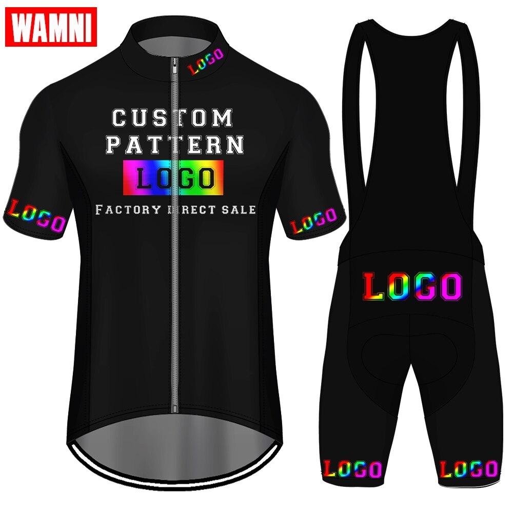 Wamni personalizado conjunto de camisa de ciclismo curto calções de ciclismo das mulheres dos homens mbt bicicleta equipe personalizar ciclismo mountain bike acessórios
