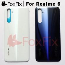 6.5インチoppo realme 6リアハウジング用realme 6バッテリーカバー携帯電話交換部品