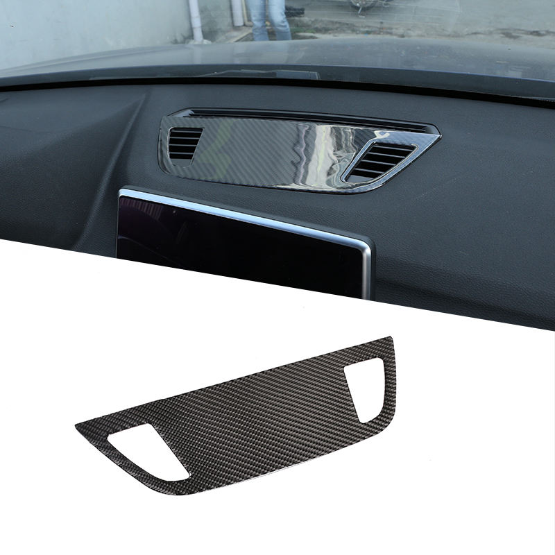 Soft Carbon Fiber For <font><b>BMW</b></font> <font><b>X1</b></font> F48 2016-2020 Center Control Console Dashboard Speaker Cover Trim <font><b>Accessories</b></font> For <font><b>BMW</b></font> X2 F47 <font><b>2018</b></font> image