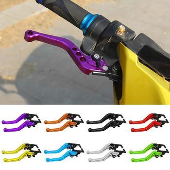 1 Pair Motorcycle Motorbike CNC Metal Adjustable Hand Lever Brake Handle Grip