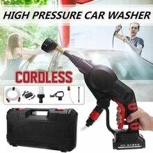 22BAR 320PSI myjnia samochodowa litowo elektryczny, wysoki ciśnienie pralka akumulator 20V bezprzewodowe urządzenia do oczyszczania czyszczenie samochodu pistolety