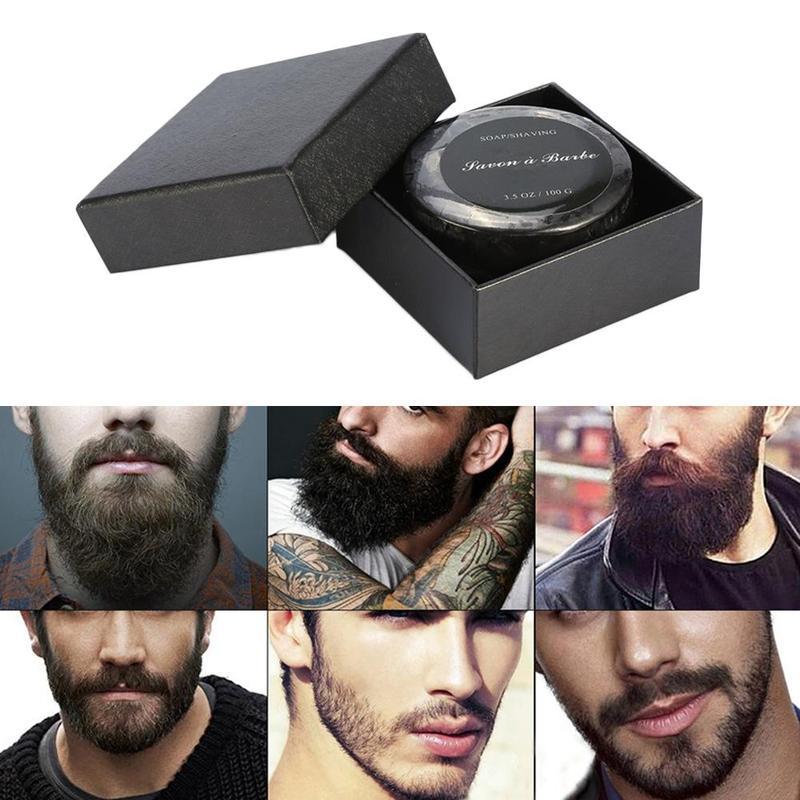 Foaming Cream Soap Facial Care Beard Shaving Soap Men's Shaving Soap Mustache Shaving Soap For Razor Barber Salon Tool Soap