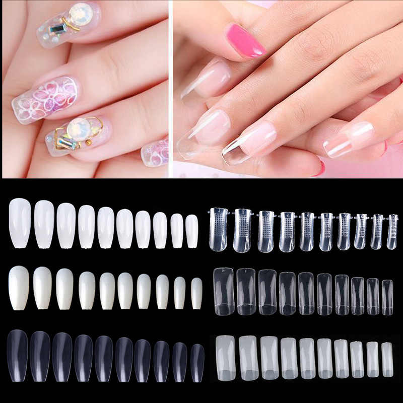 10/50/500Pcs Valse Nagel Tips Nail Art Decoraties Gel Polish Kleurenkaart Palet Nail Art Praktijk board Display Manicure Tip