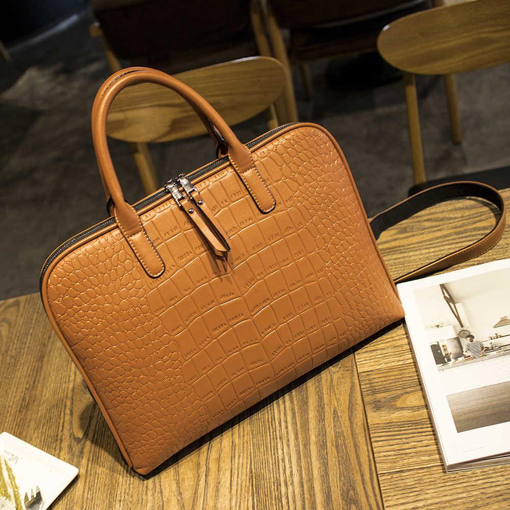 Деловой женский портфель, кожаная сумка, Женская Повседневная сумка, 13, 14, 15 дюймов, сумка для ноутбука, Офисные Сумки для женщин, портфель s