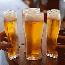 Beer Glasses Mug-Cup Separable Transparent Large-Capacity Thick for Club-Bar Party Home