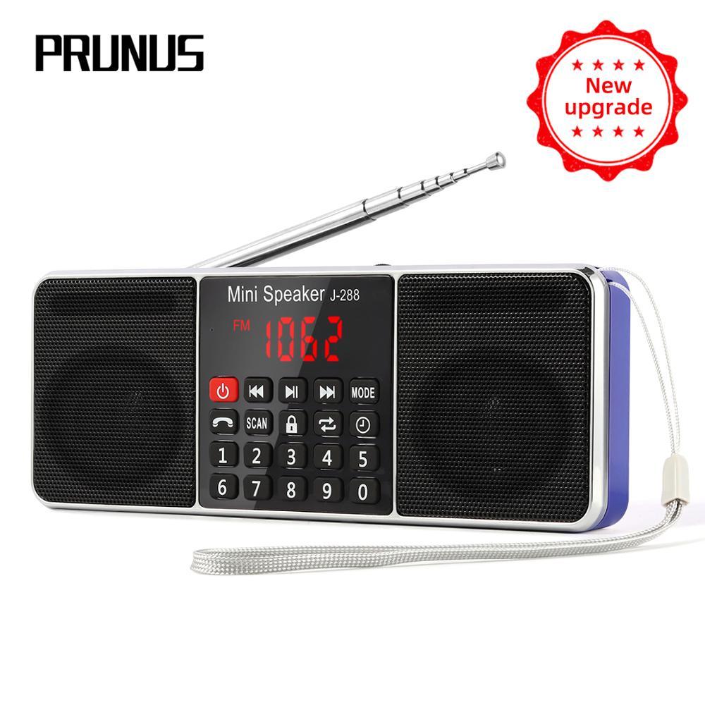 PRUNUS J-288 radio portable AM FM récepteur radio rechargeable stéréo Bluetooth haut-parleur soutien TF carte/AUX/u-disk lecture MP3