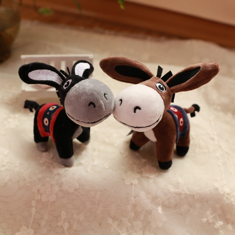 Fragrance Little Donkey Keychain Plush Toys Market Donkey Doll Doll Car Decoration Package Pendant Key Chain|Key Case for Car| |  - title=