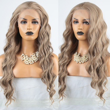 Charisma  Ash Blonde Wig Long Wavy Hair Synthetic Lace Front Wig Free Part Synthetic Wigs for Women Cosplay Wigs цена 2017
