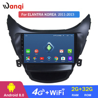 4G Lte All Netcom 9 inch Android 8.0 car dvd gps navigation For Hyundai Elantra 2011 2013 Korea Version multimedia system