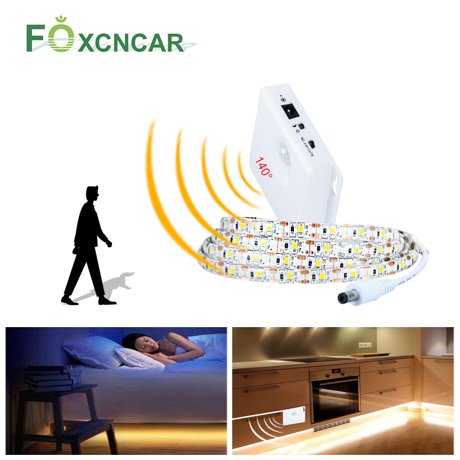 Under Cabinet Light LED Motion Activated Bed Light 5V PIR Motion Sensor USB LED Strip 2835SMD Wardrobe Lamp Tape PC TV Backlight