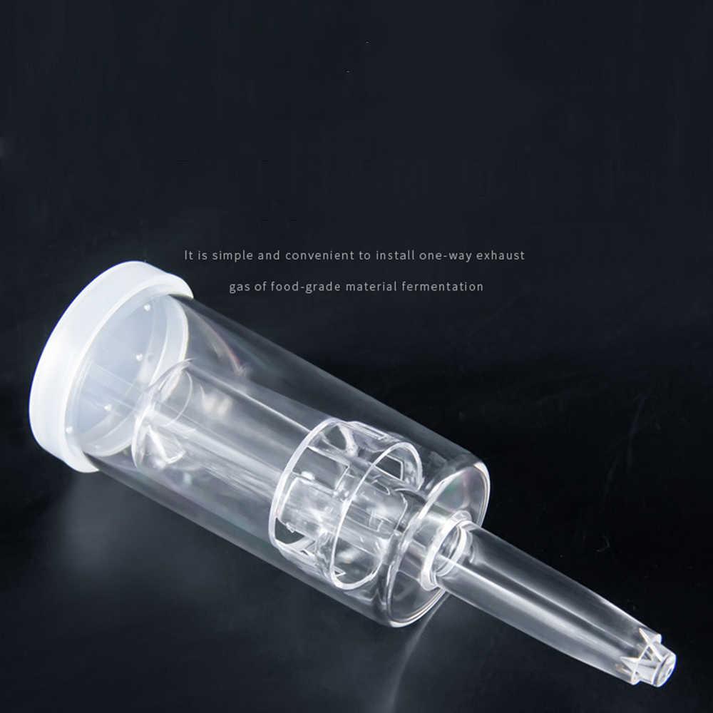 Válvula de escape para fechamento de ar, válvula de fermentação para vinho, cerveja, vedada em três peças airlock com fecho