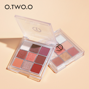 O.TWO.O Eyeshadow Cosmetics 9 Colors Nude Shimmer High Pigmented Shadows Waterproof Eye Shadow Palette Glitter For Eyes Makeup